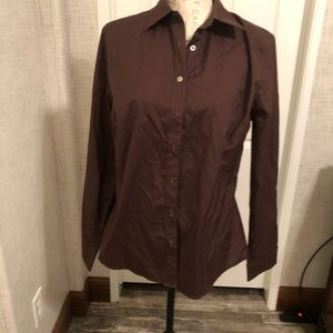 Grab 💼 6 for $20 Bay studio brown button up top L